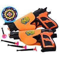 Оружие Набор оружия 2 пистолета на присосках, 02-8-03-11, 004593