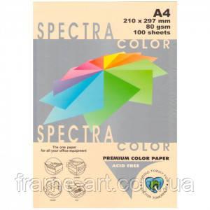 Бумага цветная А4 80г/м паст. 110 Cream (кремовый)