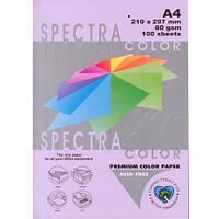 Бумага цветная А4 80г/м паст. 185 Lavender (лиловый)