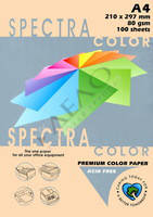Бумага цветная А4 80г/м паст. 150 Peach (персик)
