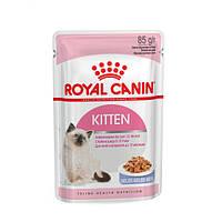 АКЦИЯ! 8+4 В ПОДАРОК!Royal Canin Kitten Instinctive в желе. Вес 85гр. 12шт