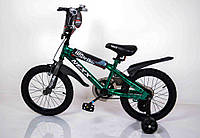 "Велосипед ""NEXX BOY-16"" Зеленый-Сплэш"