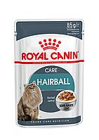АКЦИЯ! 8+4 В ПОДАRoyal Canin Hairball care (кусочки в соусе) для кошек старше 1 года, вес 85 гр 12шт
