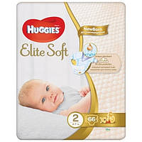 Подгузники Huggies Elite Soft 2 (4-6 кг) 66 шт (1шт-3,78грн)
