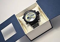 Часы мужские AMST, черный стаьной корпус и браслет, фото 1