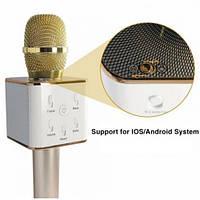 Беспроводной микрофон караоке bluetooth Q7 Gold