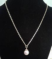 Стильный кулон с жемчужиной в подарок для любимой, фото 1