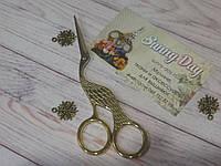 """Ножницы для рукоделия """"Цапельки"""", цвет - золото, 13,00см"""