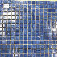 Голубая мозаика с авантюрином для ванной Vivacer XCA19