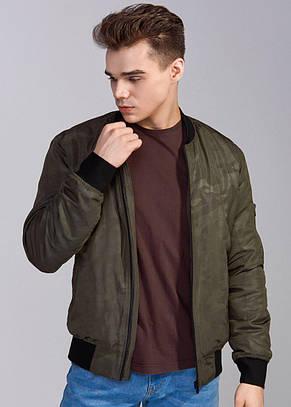 Мужская  куртка бомбер хаки Б2
