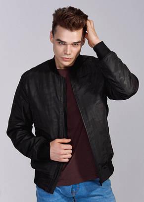 Мужская  куртка бомбер черный Б2