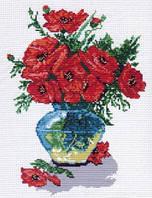 Матренин Посад 002 Маковый цвет, канва с рисунком