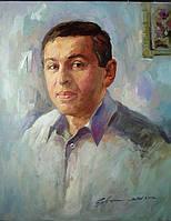 Портрет на холсте масляными красками в размере 40см на 50см