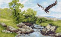 Матренин Посад 716 Летящий орел, канва с рисунком