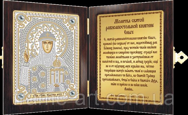 Новая Слобода СМ7167 Св. Равноап. Ольга Княгиня, набор для вышивания бисером с рамкой-складнем