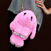 Рюкзак-сумка Кролик меховой (7 цв), рюкзак заяц, сумка кролик, меховой кролик