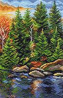 Матренин Посад 1392 Отдых в карелии, канва с рисунком 28х37