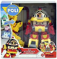 Трансформер Пожарная Машина Робокар Рой с Аксессуарами, фото 1