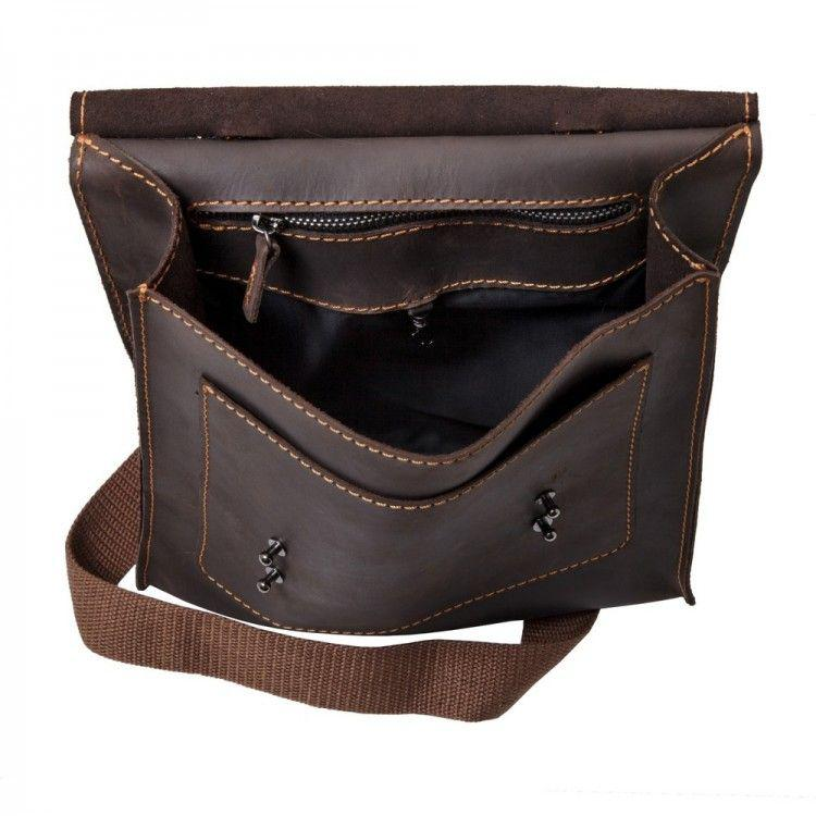 a8f08cfb16c2 Кожаная сумка через плечо на одно отделение Black Brier арт. C-1-33, цена 2  800 грн., купить в Киеве — Prom.ua (ID#648513132)
