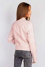 Куртка женская на молнии 659K001 junior (Бледно-розовый)