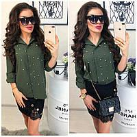 Женская модная блузка с бусинами, фото 1