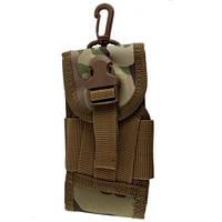 Милитари чехол, тактическая сумка с карабином для смартфона