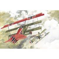Сборная модель самолета Fokker Dr.I, Roden (RN010)