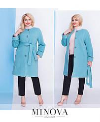 Классическое  пальто с поясом прямого кроя на пуговицах Размер:  50, 52,