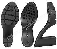Подошва для обуви 3259 PU, цв. чёрный 37