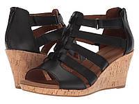 Туфли на каблуке (Оригинал) Rockport Briah Gladiator Black Leather, фото 1