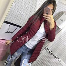 Женская куртка, синтепон 200, р-р С; М (бордовый)