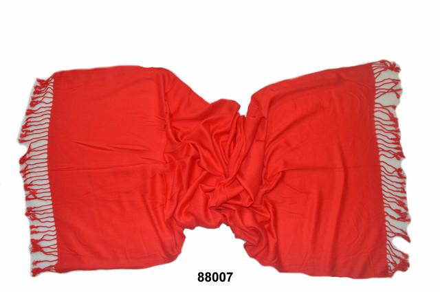 Палантин из кашемира однотонный красный Фото 2