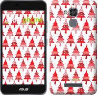 "Чехол на Asus Zenfone 3 Max ZC520TL Christmas trees ""3856c-442-716"""