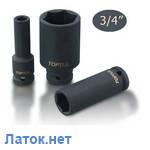 """Головка торцевая 3/4"""" 46 мм ударная длинная 6-гранная KABE2446 Toptul"""