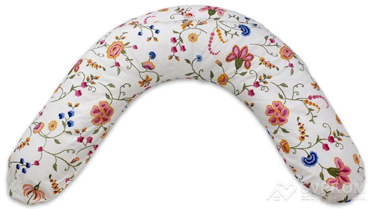 """Наволочка на подушку Лежебока серии """"Classik"""" с рисунком «Весенние цветы»"""