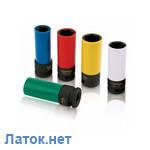 """Головка в пластике 1/2"""" 22 мм ударная длинная для шиномонтажа KABC1622 Toptul"""