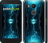 "Чехол на LG Nexus 5X H791 Молнии в цилиндре ""120c-150-519"""
