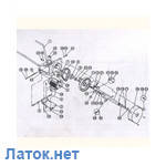 Тормозная колодка удара - нижняя EKT 06-01-000 для электро гайковерта Turbo 2000 Delta Польша
