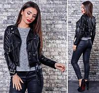 Куртка женская кожзам косуха короткая Разные цвета