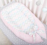 """Кокон-люлька для девочки, гнездышко для сна,мягкая кроватка, переносная люлька """"Розовая мечта"""", фото 1"""