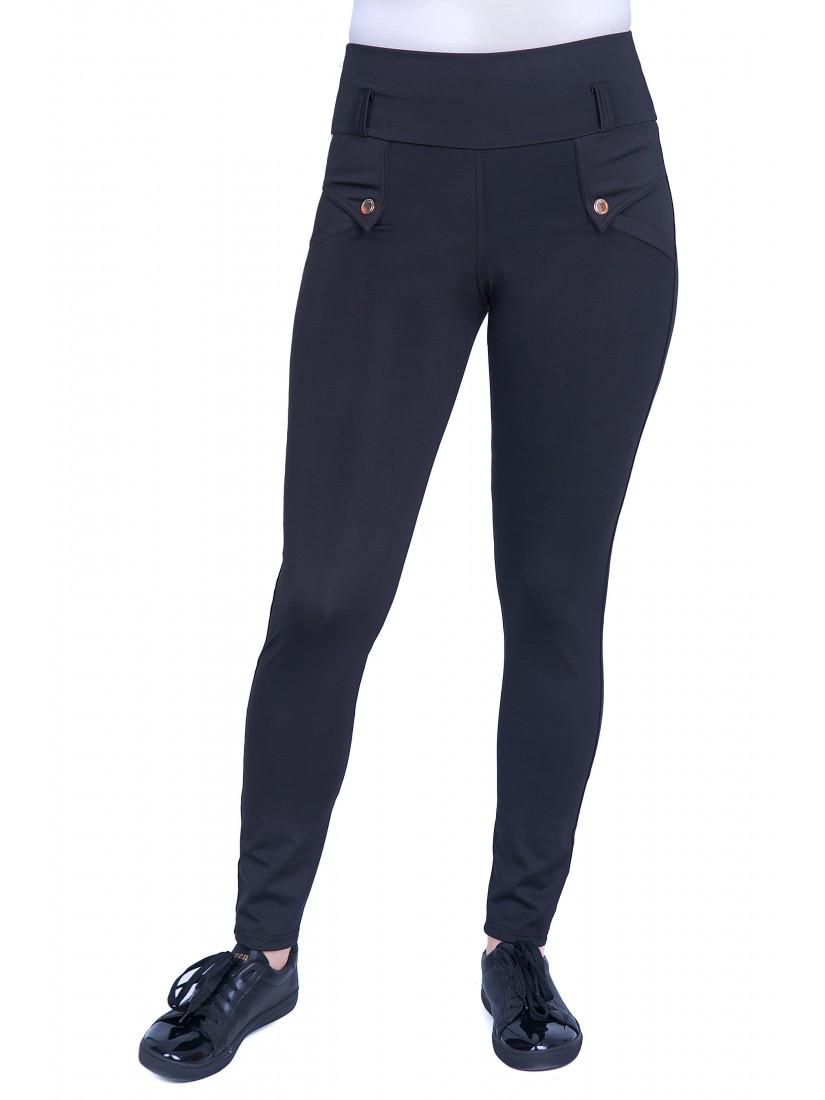 Модные лосины черного цвета из микро-дайвинга. Размеры: 48-54
