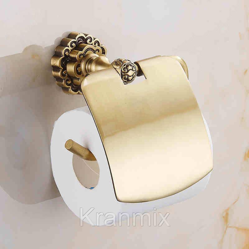 Держатель для бумаги Aquaroom бронза Держатель для туалетной бумаги бронза