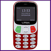 Телефон Sigma mobile Comfort 50 Retro (RED). Гарантия в Украине 1 год!