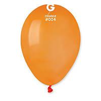Воздушные шары латексные Gemar А80 пастель оранжевый 8' 21 см