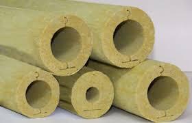 Цилиндры минераловатные (базальтовые) без покрытия длина 1200мм внутр.D45мм толщина изоляции 30мм