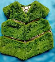 Жилетка меховая для девочки зеленая на 3, 4, 5 лет в Одессе 7 км