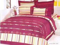 Комплект постельного белья евро Le Vele, Erica, сатин вышивка