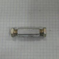 Соединитель 6 на 6мм гайка + ниппель 41719