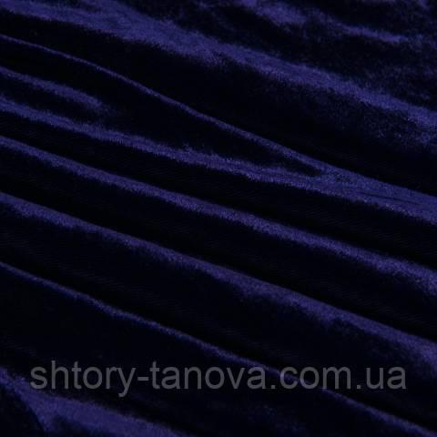 Бархат ткань (велюр), тёмно-фиолетовый