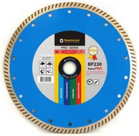 Алмазний відрізний диск Baumesser 230x2,6x9x22,23 Turbo Beton PRO